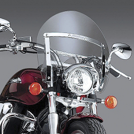 National Cycle Switchblade Shorty Windshield With Mount Kit - 2001 Harley Davidson Sportster Custom 883 - XL883C National Cycle Light Bar
