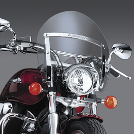 National Cycle Switchblade Shorty Windshield Kit - 2005 Honda VTX1300S Show Chrome Classic Windshield For Tapered Forks