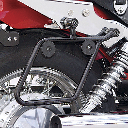 National Cycle Cruiseliner Quick Release Saddlebag Black Mount Kit - 2001 Yamaha V Star 650 Classic - XVS650A Cobra Saddlebag Supports - Chrome