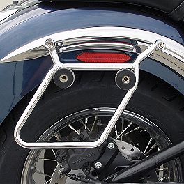 National Cycle Cruiseliner Quick Release Saddlebag Chrome Mount Kit - 2006 Honda VTX1800N1 National Cycle Light Bar