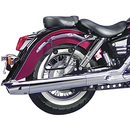 National Cycle Cruiseliner Quick Release Saddlebag Chrome Mount Kit - 2008 Harley Davidson Sportster Low 883 - XL883L National Cycle Cruiseliner Quick Release Smooth-Back Saddlebags Without Mounts - Amber Reflector