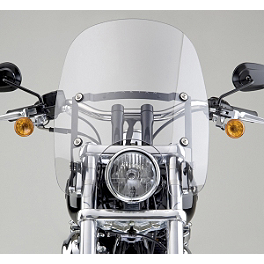National Cycle Spartan Quick-Release Windshield With Mount Kit - 2008 Harley Davidson Sportster Low 883 - XL883L National Cycle Cruiseliner Quick Release Smooth-Back Saddlebags Without Mounts - Amber Reflector