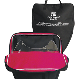National Cycle Switchblade Storage Bag - 2002 Honda Shadow VLX - VT600C National Cycle Flyscreen Windshield - Dark Smoke