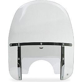 National Cycle Heavy Duty Wide Frame Touring Windshield - 1994 Harley Davidson Softail Custom - FXSTC National Cycle Cruiseliner Quick Release Saddlebag Black Mount Kit