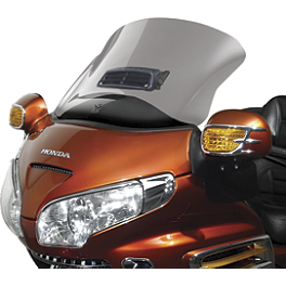 National Cycle Fairing Mount Vstream Windscreen With Vent Cutout - Clear - 2006 Honda Gold Wing 1800 Audio Comfort Navigation - GL1800 National Cycle Mirror Mount Wing Deflector