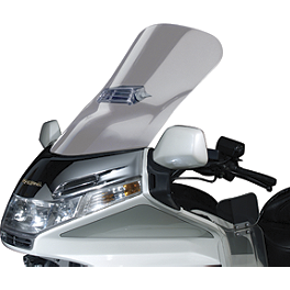 National Cycle Fairing Mount Vstream Windscreen With Vent Cutout - Clear - Show Chrome 500 Series Contoured Wind Deflectors - Smoke