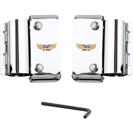 National Cycle Heavy Duty Narrow Frame Windshield Mount Kit - Chrome - 2000 Harley Davidson Dyna Super Glide Sport - FXDX National Cycle Light Bar