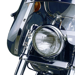 National Cycle Heavy Duty Narrow Frame Windshield Mount Kit - Chrome - 2001 Harley Davidson Softail Standard - FXSTI National Cycle Light Bar
