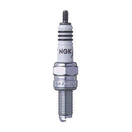 NGK Iridium IX Spark Plugs - M4 Standard Slip-On Exhaust - Carbon