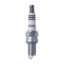 NGK Iridium IX Spark Plugs - K&N Spin-on Oil Filter - Chrome