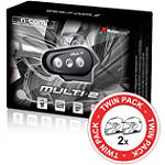 Nolan Multi 2 Universal N-COM Kit - Twin Pack -  Motorcycle Communication Systems