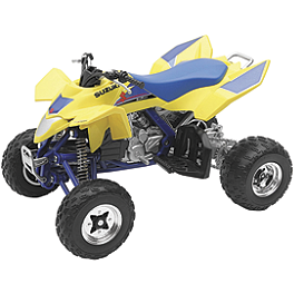 New Ray Toys 1:12 LTR450 ATV - Yellow - Strider ST-4 No-Pedal Balance Bike - Suzuki Graphics