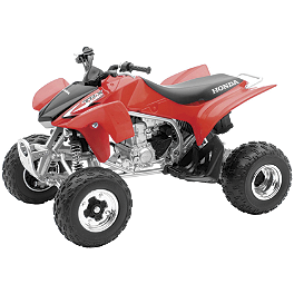 New Ray Toys 1:12 TRX450R ATV - Red - New Ray Toys Blue 2008 YFZ450 Die-Cast Quad - 1:12 Scale