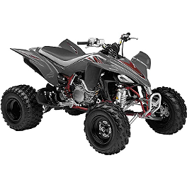 New Ray Toys 1:12 2008 Yamaha YFZ450 - Grey - New Ray Toys 1:12 2012 Honda TRX450R - White