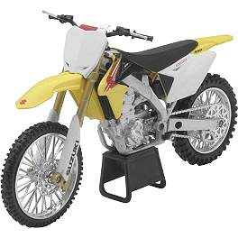 New Ray Toys 1:12 2011 Suzuki RMZ450 - New Ray Toys 1:12 2012 Honda CRF450