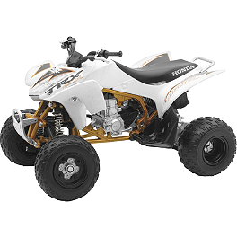 New Ray Toys 1:12 2012 Honda TRX450R - White - New Ray Toys 1:12 Suzuki Vinson 500 4x4 - Green Camo