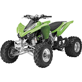 New Ray Toys 1:12 Kawasaki KFX450R ATV - Green - New Ray Toys 1:32 Got Dirt Long Hauler Truck