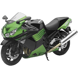 New Ray Toys 1:12 Kawasaki Ninja ZX-14 - Green - New Ray Toys 1:12 Scale 2006 Honda CBR1000RR Replica With Lights And Sound