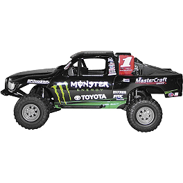 New Ray Toys 1:24 Monster Energy Johnny Greaves Truck - New Ray Toys 1:12 2008 Yamaha Rhino 700 - Green