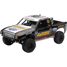 New Ray Toys 1:24 4-Wheel Team #10 Adler Truck - New Ray Toys 1:32 Got Dirt Long Hauler Truck