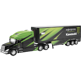 New Ray Toys 1:32 Monster Kawasaki Racing Truck - New Ray Toys 1:32 Got Dirt Long Hauler Truck