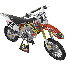 New Ray Toys 1:6 2012 Kevin Windham Honda CRF450 Geico - Impact Video Freestyle Competition Playset