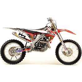 2012 N-Style Accelerator Graphics Kit - Honda - 2012 Honda CRF250R 2013 One Industries Rat Rod Cosmetic Kit - Honda