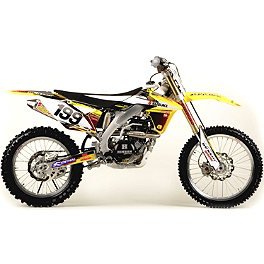 2012 N-Style Accelerator Graphics Kit - Suzuki - 2012 One Industries Monster Energy Graphic Kit - Suzuki