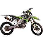 2012 N-Style Hart & Huntington Graphics Kit - Kawasaki - Motocross Graphics & Dirt Bike Graphics