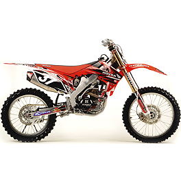 2012 N-Style Ultra Graphics Kit - Honda - 2012 Honda CRF150R Factory Effex DX1 Backgrounds Standard - Honda
