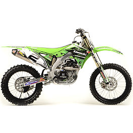 2012 N-Style Ultra Graphics Kit - Kawasaki - 2013 One Industries Checkers Graphic - Kawasaki