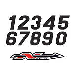 N-Style Stadium Style Numbers - N-Style Dirt Bike Body Parts and Accessories