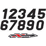 "N-Style Stadium Style Numbers - XL 7"" - Custom Dirt Bike Graphics"