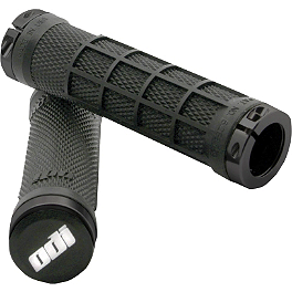 ODI Ruffian Half Waffle ATV Lock-On Grips - Thumb Throttle - ODI Ruffian 130mm ATV Lock-On Grips - Thumb Throttle - Black
