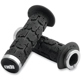 ODI Rogue 130mm ATV Lock-On Grips - Thumb Throttle - ODI Ruffian Half Waffle ATV Lock-On Grips - Thumb Throttle