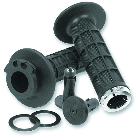 ODI Motocross Half-Waffle Lock-On Grips - Black - Main
