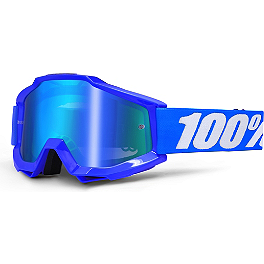 100% Accuri Goggles - Mirrored Lens - 100% Racecraft / Accuri / Strata Standard Tear-Offs - 20 Pack