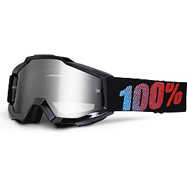 100% Accuri Youth Goggles - Mirrored Lens - 100% Youth Standard Tear-Offs - 20 Pack
