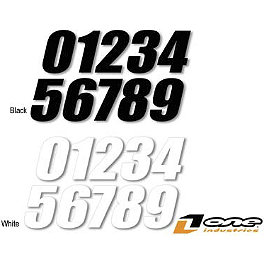 "One Industries SX Numbers - 7"" - 2011 One Industries Pre-Printed Backgrounds - White Yamaha"