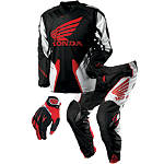 2013 One Industries Carbon Combo - Honda Red - One Industries Dirt Bike Pants, Jersey, Glove Combos