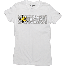 One Industries Women's Rockstar Caia T-Shirt - Yamaha Star Accessories Billet Oval Left Mirror - Ball Milled