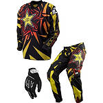 2013 One Industries Carbon Combo - Rockstar -  Dirt Bike Pants, Jersey, Glove Combos