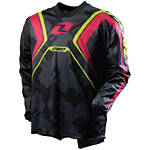2012 One Industries Carbon Jersey - Napalm - Discount & Sale Utility ATV Riding Gear