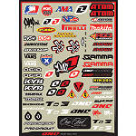 2013 One Industries Helmet Logos Decal Sheet -  ATV Body Parts and Accessories