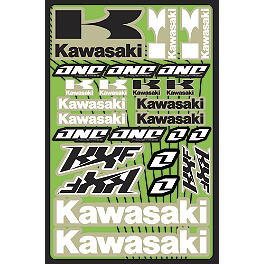 2013 One Industries Kawasaki KXF Decal Sheet - Factory Effex Kawasaki Decal Sheet