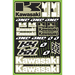 2013 One Industries Kawasaki KX Decal Sheet - One Industries Techno-Grip Seat Cover - Blue