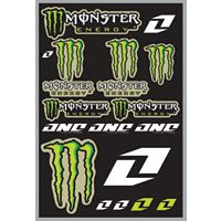 2013 One Industries Monster Energy Decal Sheet