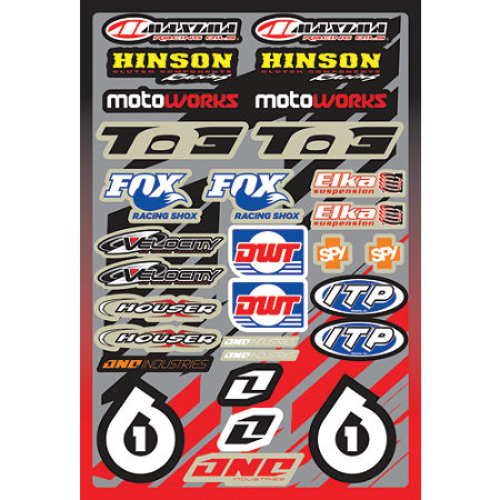 2013 One Industries Quad Decal Sheet - Main
