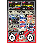 2013 One Industries Quad Decal Sheet - One Industries Utility ATV Utility ATV Parts
