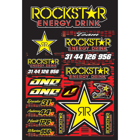 2013 One Industries Rockstar Energy Decal Sheet - Suzuki - Main